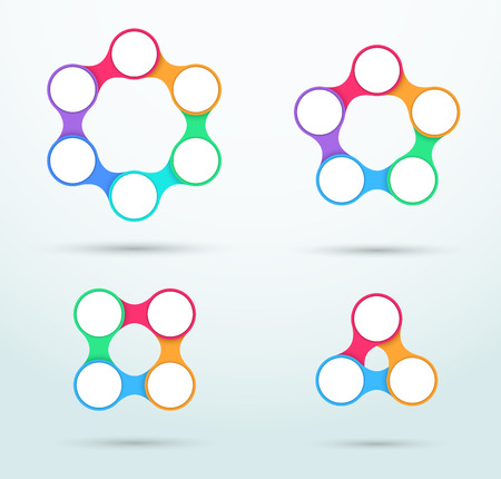 Infographic Connected Circles Template Set B