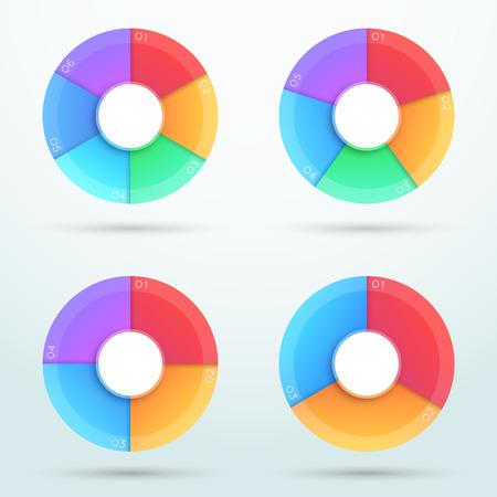 Infographic Segments Cycle Around Centre Circle B