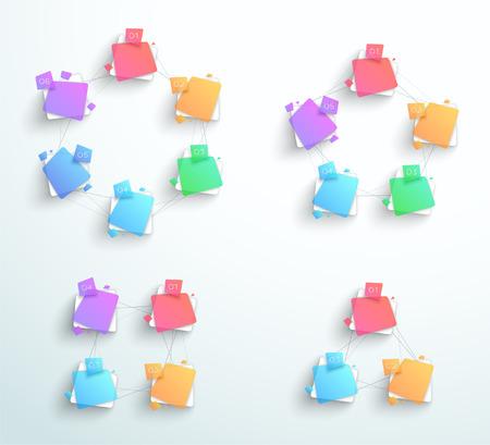 Abstrakte Formen der abstrakten Formen Geschäftszyklen. Standard-Bild - 89169296