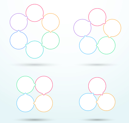 Infographic Business Linked Outline Circle Diagrams B.