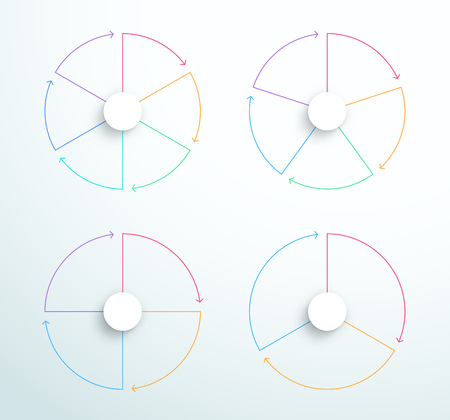 Infographic Simple Rotating Business Cycle Diagrams  イラスト・ベクター素材