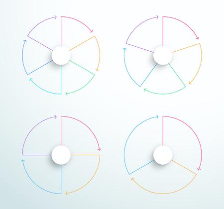 インフォグラフィックシンプルな回転ビジネスサイクル図