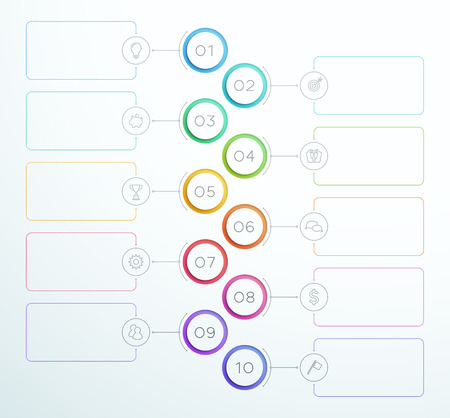 Infographic Number Circle Rings 1 to 10 Vector