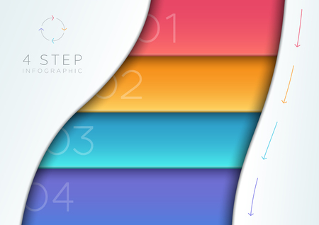 Vector Abstract Colorful 3d Banner List 1 to 4 Template