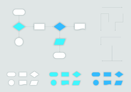 Vector 3d Flow Chart Elements Set Infographic Template