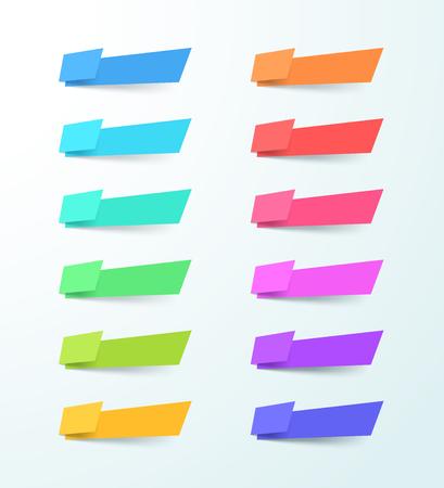 ベクトル抽象空白形状12バナー要素セット