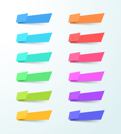 Vector Abstract Blank Shape 12 Banner Elements Set