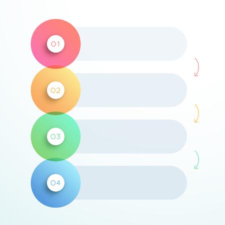 抽象ベクトル3D円番号ステップ1~4