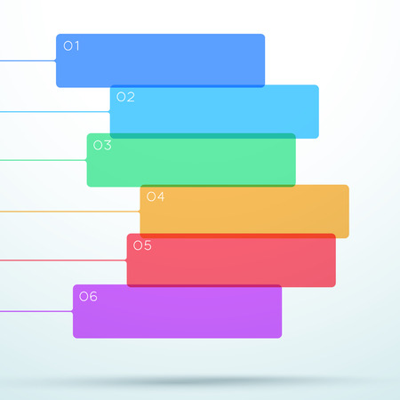 Abstract Vector Flat Colorful Box Banner Layout Design