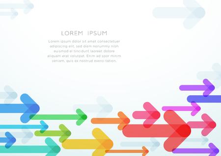 抽象的な矢印ベクトルカラフルな背景グラフィック  イラスト・ベクター素材