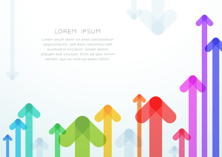Abstract Arrow Vector Colorful Background Layout Ilustrace