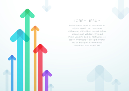 Abstract Arrow Vector Colorful Background Template