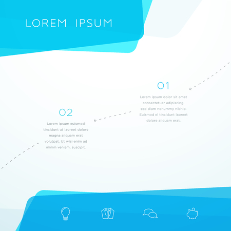 Abstract Vector Blue Shape Page Layout