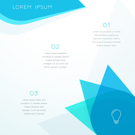 Abstract Vector Blue Shape Page Template Illustration