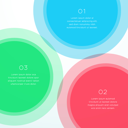 Abstract Vector Colorful Circle Diagram Background