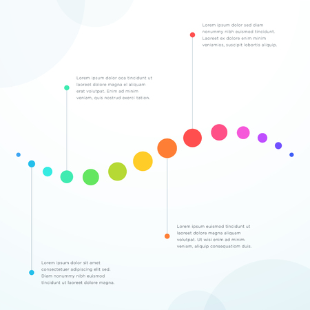 Abstract 4 Point Colorful Flat Horizontal Timeline Vector illustration.