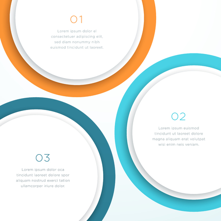 Abstract Vector Colorful Circle 3d Diagram Background Illustration