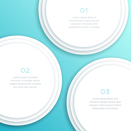 Abstract Vector White Circle 3d Diagram Background