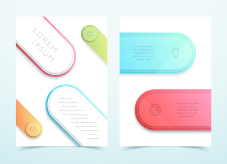 Vector Business Colorful 3d Page Template Layout