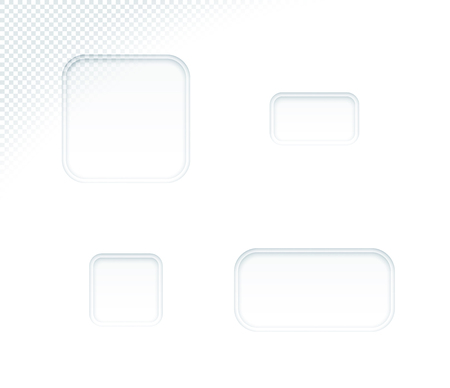 Vector 3d Blank White Paper Cut Out Square Shapes Set 向量圖像