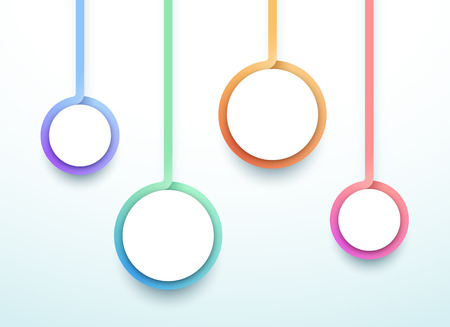 Abstract Vector 3d Colorful 4 Step Circles Infographic