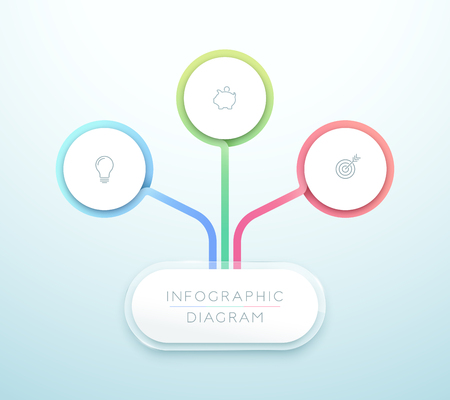 Business Chart 3 Step 3d Circle Infographic Chart