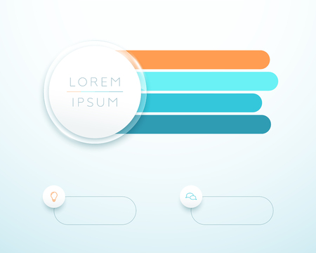 Infographic 4 Step 3d Circle Banner List Template