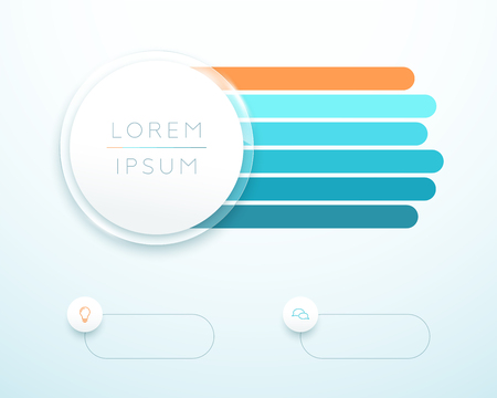 Infographic 6 Step 3d Circle Banner List Template 向量圖像