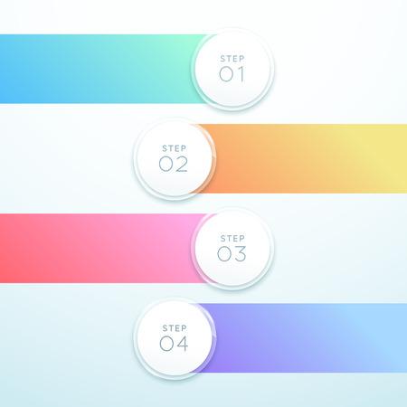 Vector 3d Circle Banner Diseño de lista de infografía de 4 puntos Ilustración de vector