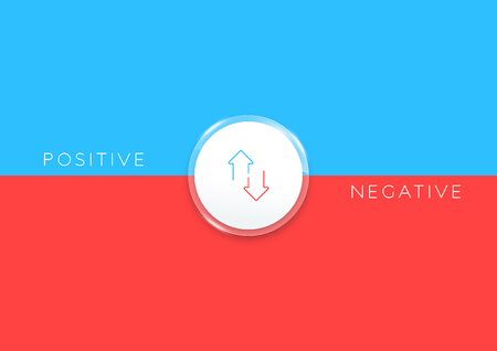 2 Step Positive Negative List Infographic Horizontal