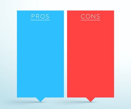 Pros and Cons 2 List Banners Infographic Template