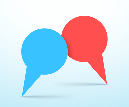 Vector Speech Bubbles 2 Overlapping Graphic