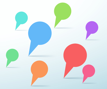 Vector Speech Bubbles Upright Page Template Design