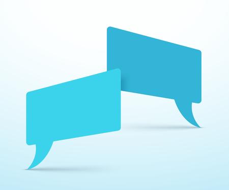 Vector Speech Bubbles 2 Overlapping Design 写真素材 - 116874143