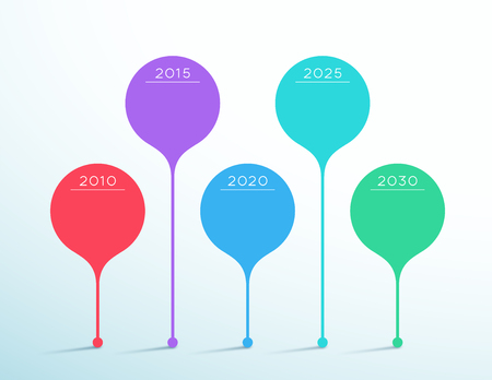 Timeline Colorful Vector 3d Circle Infographic Template