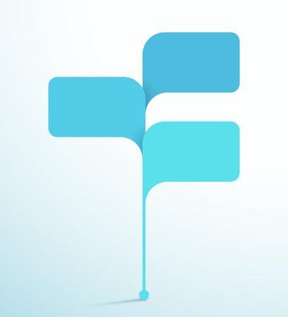3 Speech Bubble Shapes Vector 3d Infographic Template Illustration