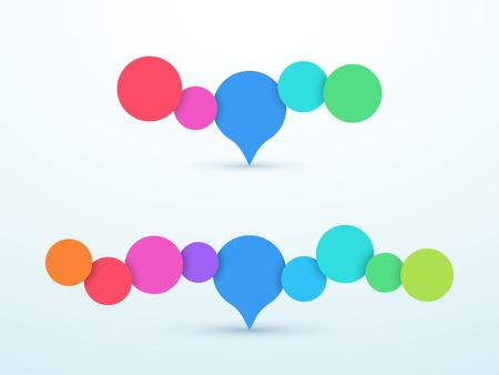 Bubbles Horizontal 3d Infographic Design