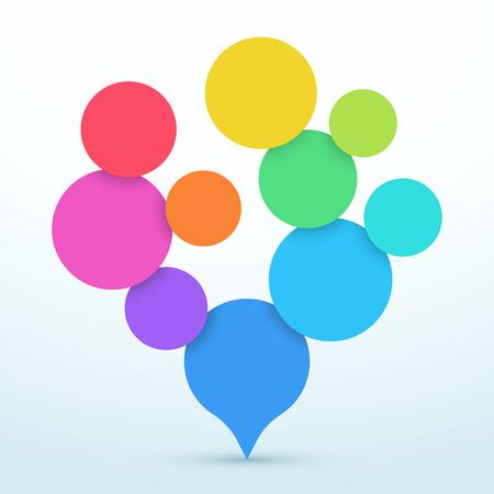 Bubbles Tree Shape 3d Infographic Design