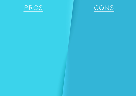 Pros and Cons Centre Divide Argument List Template Illustration