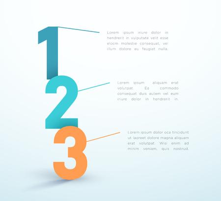Nummer Stappen 1, 2, 3 Infographic Vector Design