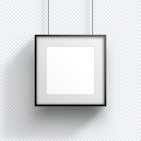 Photo Frame Single Hanging Down Square Design Ilustração