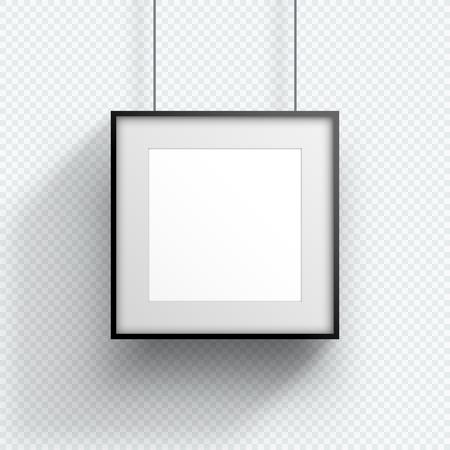 Photo Frame Single Hanging Down Square Design Illustration