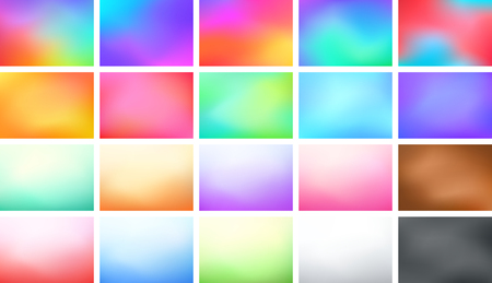 Abstract Blur Color Gradient Background Set A4 Landscape