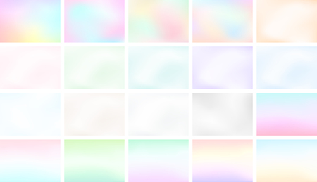 Abstract Blur Light Gradient Background Set A4 Landscape