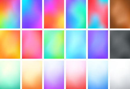 Abstract Blur Color Gradient Background Set A4 Portrait Ilustração