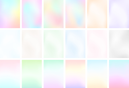 Abstract Blur Light Gradient Background Set A4 Portrait Ilustração