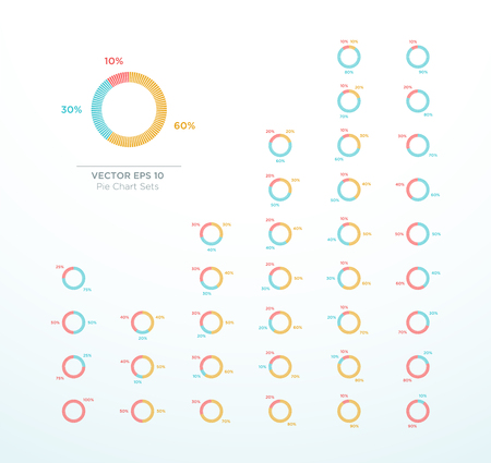 Pie Chart Vector Circle Diagram Infographic Percentage Ilustrace