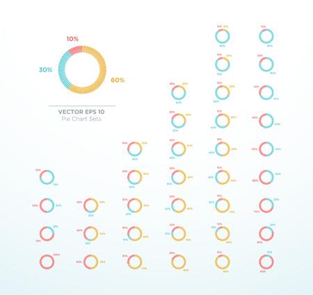 Pie Chart Vector Circle Diagram Infographic Percentage Illustration