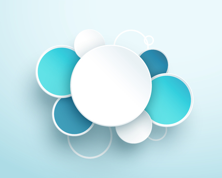 Circle Text Box 3d Simple Vector Template