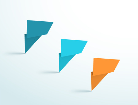 Abstract Standing Origami Shapes Vector Design